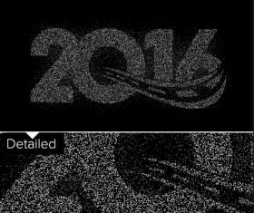 2016 new year design black  vector 10