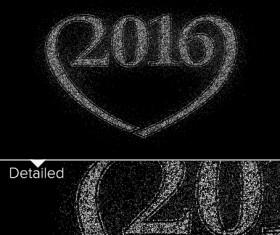 2016 new year design black  vector 11