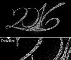 2016 new year design black  vector 12