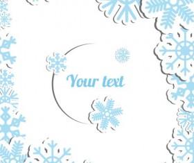 Blue snowflake christmas cards vector