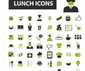 Business icons black with green vector 13