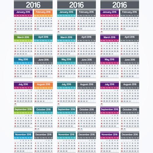 Calendar Design Elegant : Calender simple and elegant design vector