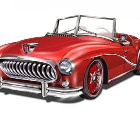 Car vintage poster design material vector 10