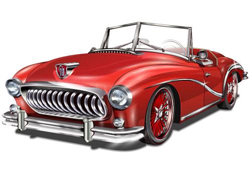 Car Vintage Poster Design Material Vector Vector Car Vector