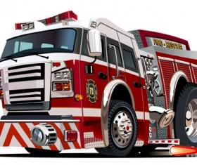 Cartoon fire truck vector material 11
