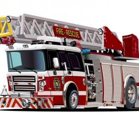 Cartoon fire truck vector material 12