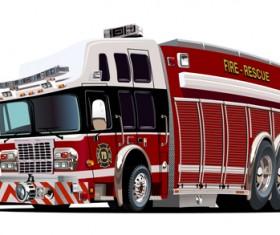Cartoon fire truck vector material 13