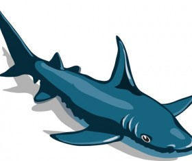 Cartoon funny shark vector material 07