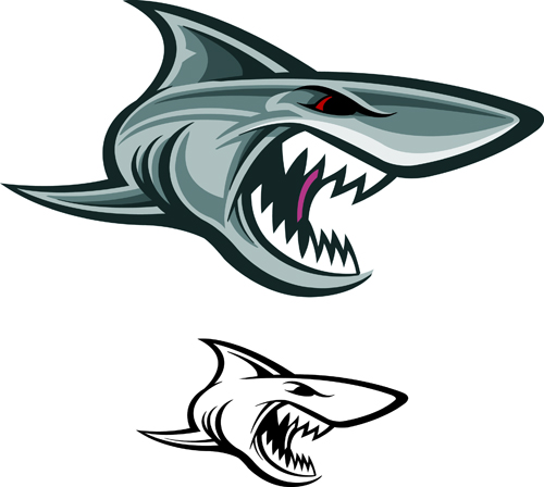 Cartoon Funny Shark Vector Material 09 Vector Animal