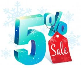 Christmas big sale vector material 08