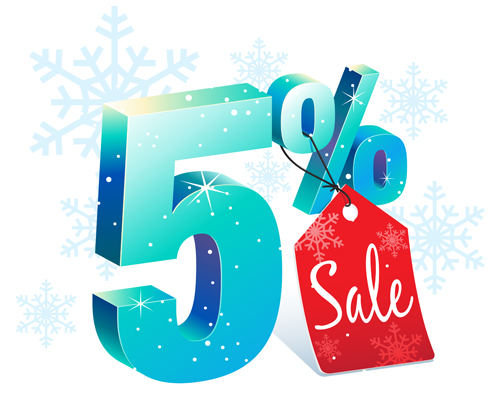 Christmas big sale vector material 08