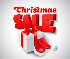 Christmas discounts sale vector material 01