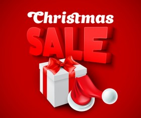 Christmas discounts sale vector material 02
