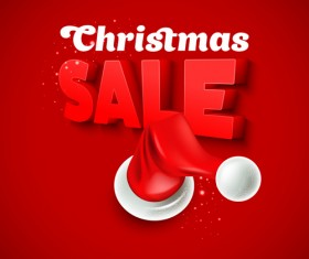 Christmas discounts sale vector material 03