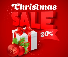 Christmas discounts sale vector material 04