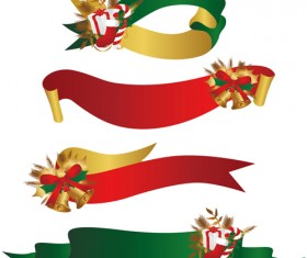 Christmas gift with Bell and ribbon vector