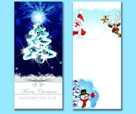 Christmas greeting card with bow psd material