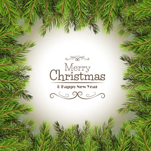 Christmas Wreath Frame Vector Free Download