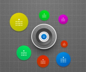 Circle elements business template vector 24