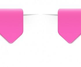 Colored bookmarks design vectors set 08
