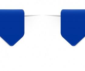 Colored bookmarks design vectors set 09