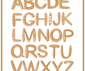 Cute cookie alphabet vector