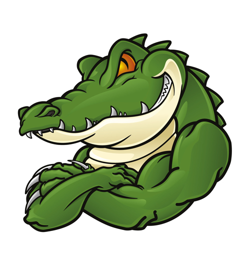 Cute crocodile cartoon styles vectors 04 - Vector Animal ...