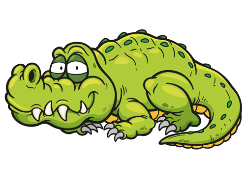 Cute crocodile cartoon styles vectors 05 - Vector Animal ...