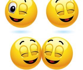 Cute smileys icons vectors
