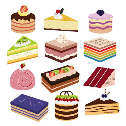 Free Birthday Cake Vector Image Material Design