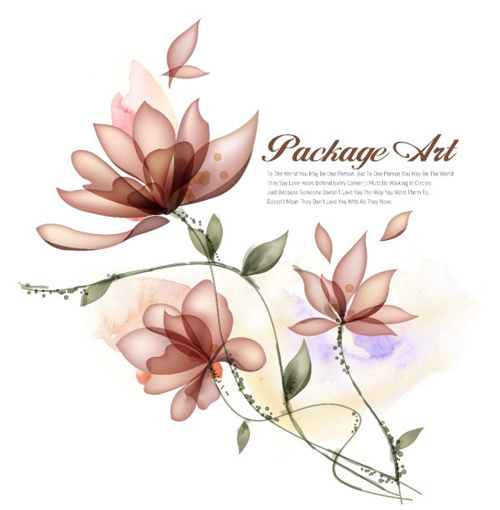 Elegant flower with psd background