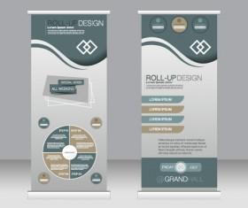 Exhibition advertising vertical banner vectors set 21