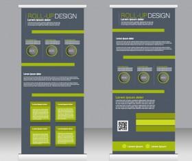 Exhibition advertising vertical banner vectors set 24