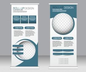 Exhibition advertising vertical banner vectors set 25
