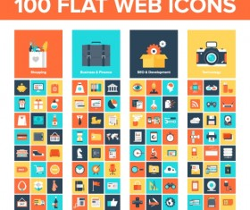 Flat web icon vector set