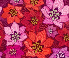 Floral seamless pattern hand drawing vector 01