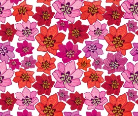 Floral seamless pattern hand drawing vector 02