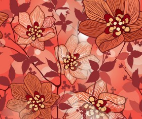 Floral seamless pattern hand drawing vector 03