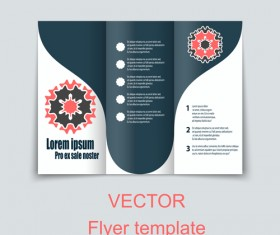 Fold flyer with brochure vector template set 06