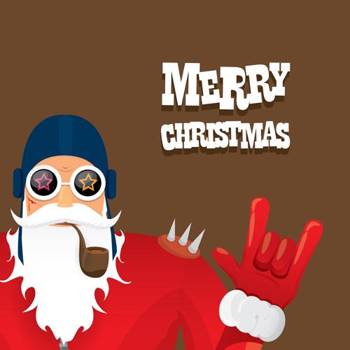 Funny santa claus vector design material