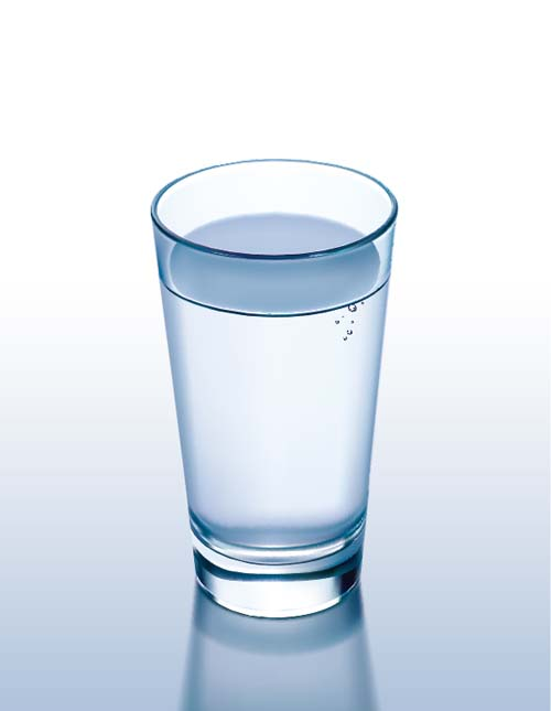 Glass cup with water vectors set 08 free download