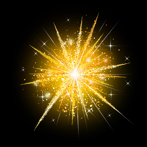 Golden Fireworks Holiday Vector Vector Festival Free