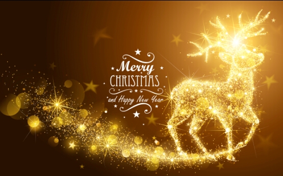 Christmas Holiday Images.Golden Glow Christmas Holiday Background Vector 01 Free Download