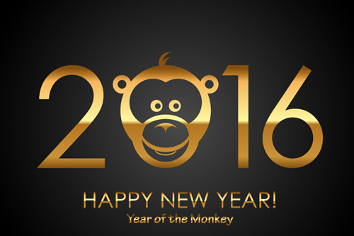 COMENTARIOS/COMMENTS!! - Page 5 Happy-new-year-2016-with-monkey-vectors
