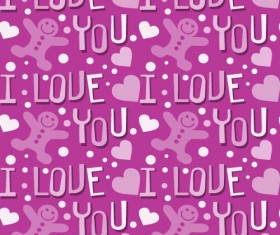 Love seamless pattern vector material 02