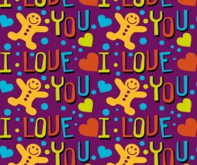 Love seamless pattern vector material 03