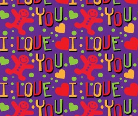 Love seamless pattern vector material 04