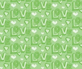 Love seamless pattern vector material 06