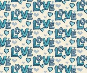 Love seamless pattern vector material 07