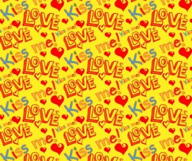 Love seamless pattern vector material 08